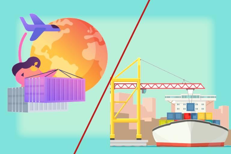 الشحن الجوي مقابل الشحن البحري - بروكونكت اللوجستية المتكاملة